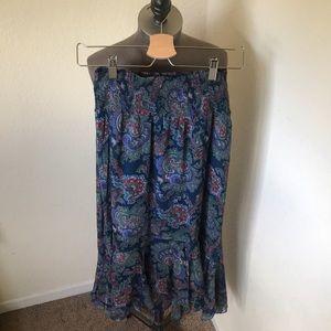 Anthropologie Paisley Print Maxi Skirt